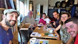 Isabelle, Nathalie et quelques joyeux copains des Pieds dans le Paf, lors du lancement du sevrage, samedi 13 octobre 2018